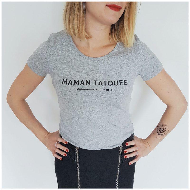 t-shirt maman tatouée, cadeau fête des mères, naissance. Maia et Zoé