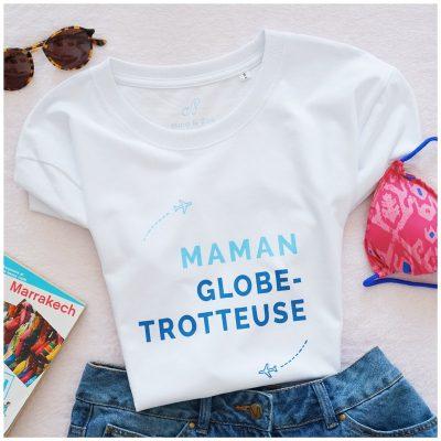 T-shirt Maman Globe Trotteuse, créateur Maia Zoé
