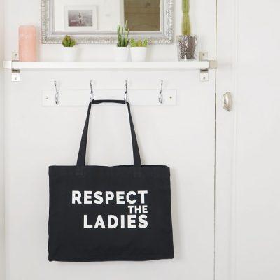 Tote Bag XL noir Respect The Ladies