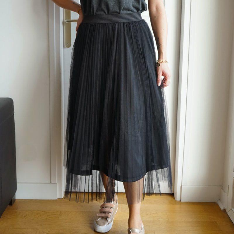 Jupe en tulle noir, élastique noir, jupe tulle Carrie Bradshaw