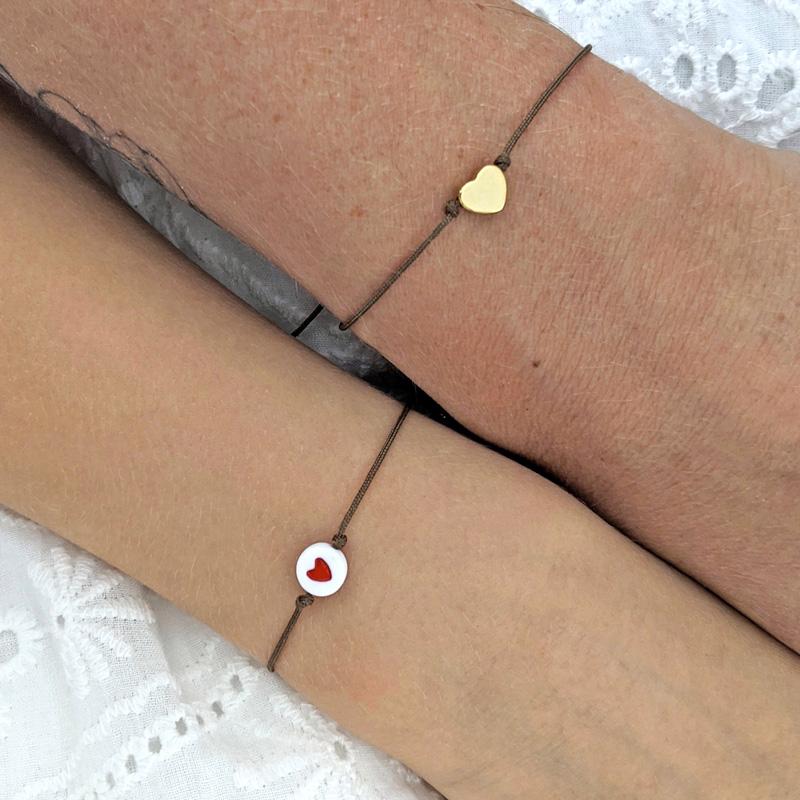 Duo bracelet mère fille avec petit coeur