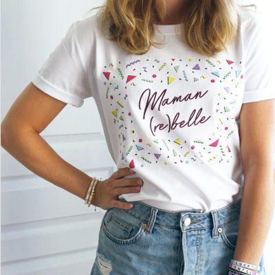 T-shirt maman rebelle retro vintage année 90