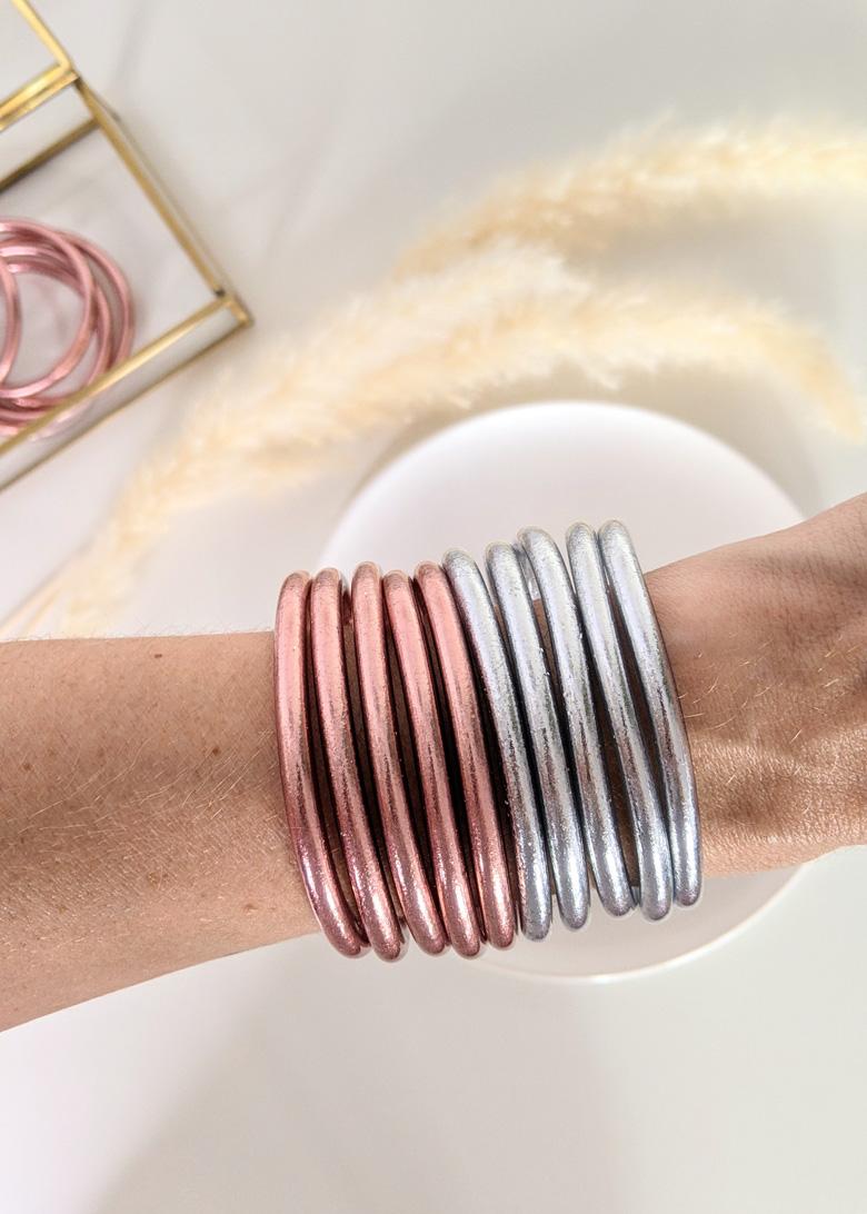 Bracelet-jonc-bouddhiste-mantra-porte-bonheur-couleur-rose-gold-silver