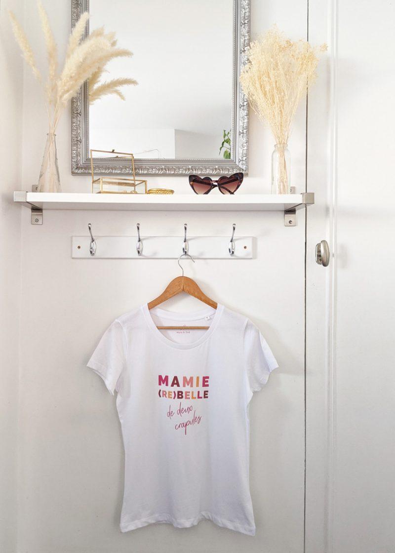 T-shirt mamie rebelle cadeau ideal pour la fête des grands-meres
