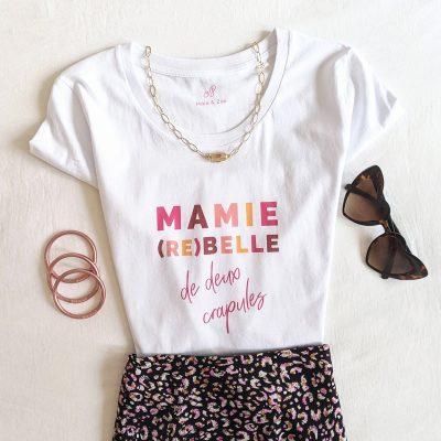 Tee-shirt mamie rebelle pour cadeau fête des grands-meres