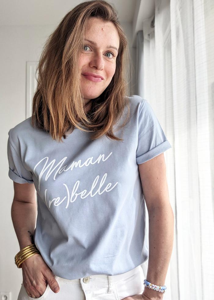 Le Tshirt maman rebelle est le cadeau idéal à offrir à une maman pour la fête des mères