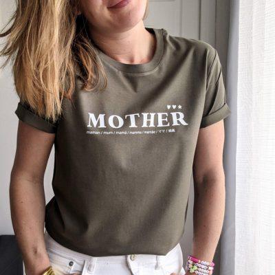 T-shirt mother pour mum of one, mum of two, mum of three. Cadeau parfait à offrir à une maman.