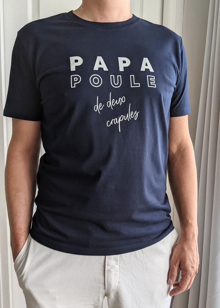 T-shirt papa poule de crapules, cadeau à offrir à un homme pour la fête des pères ou pour une naissance