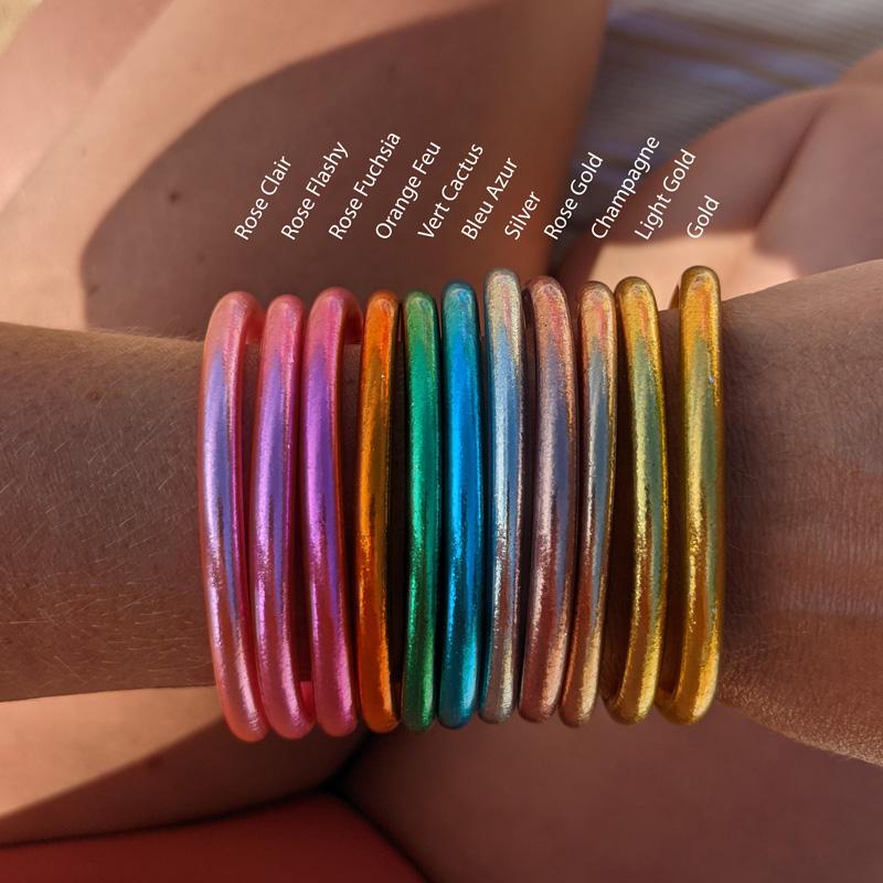 Bracelets joncs bouddhistes Maia et Zoé
