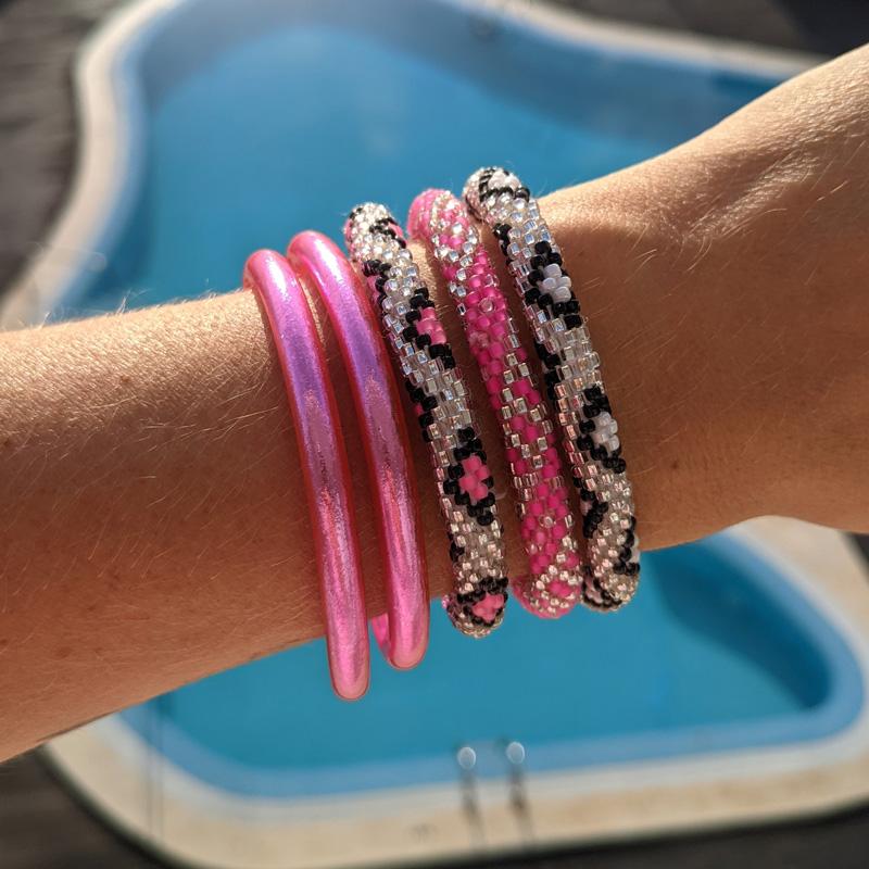 Bracelet népalais rose Maia et Zoé