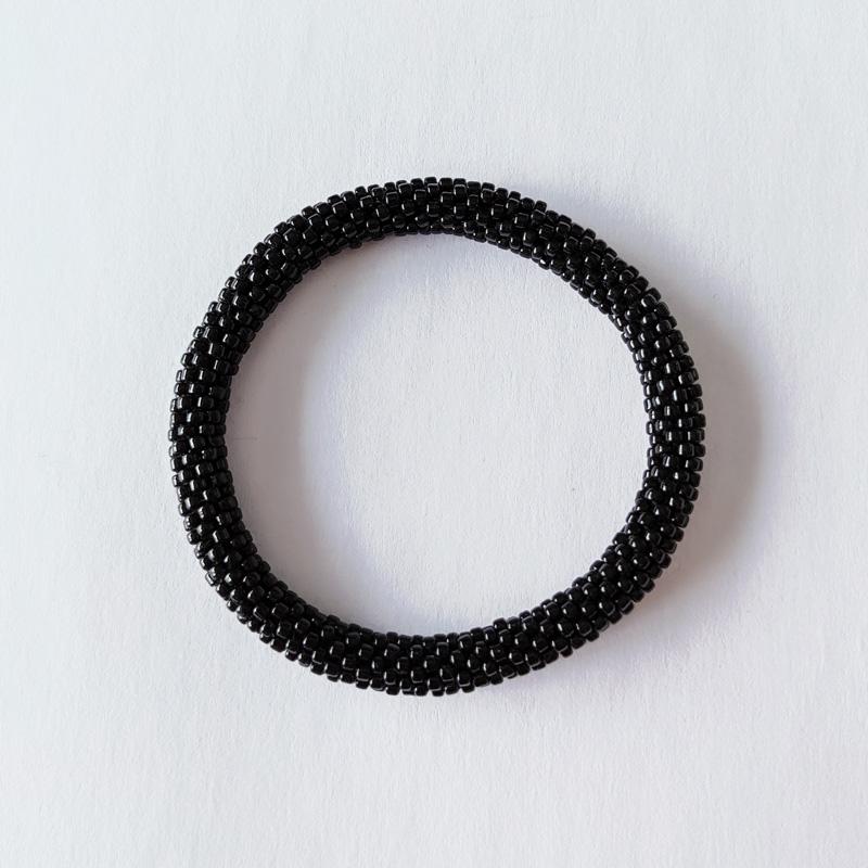 Bracelet népalais noir black - Maia et Zoé