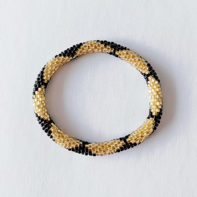 Bracelet népalais noir et doré - Maia et Zoé