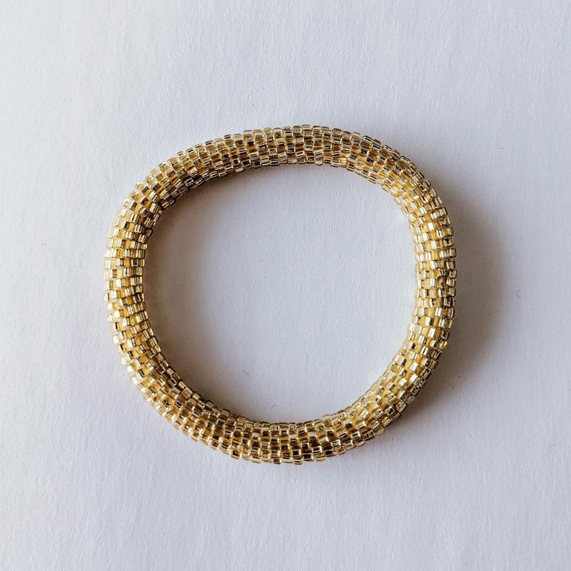 Bracelet népalais light gold - Maia et Zoé